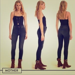 """MOTHER High Waisted """"The Looker"""" Jeans"""